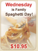 Wednesday is Family Spaghetti Day